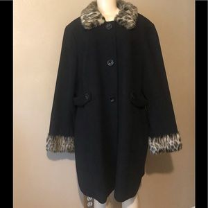 Style & Co. Black coat size 18W, Polyester & Rayon